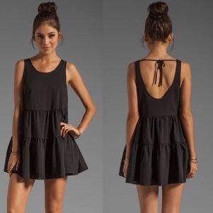 Lovers + Friends Black Ruffle Dress
